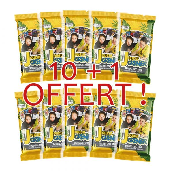 10 Boosters (+ 1 offert) JDG Trading Cards